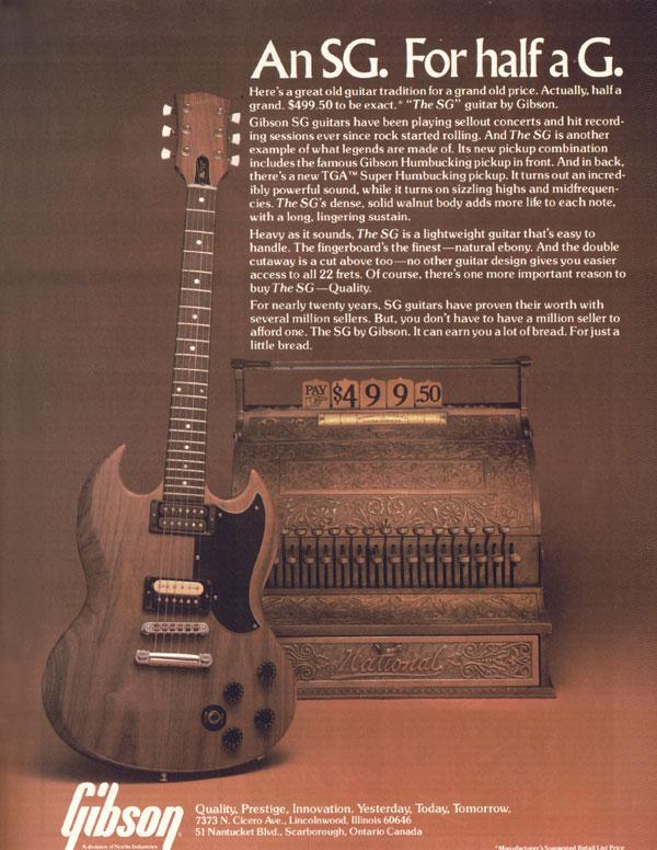 Pubblicità Gibson SG-1979