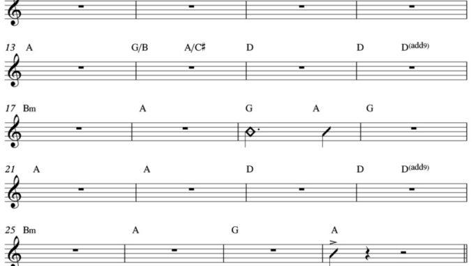 Sally - Tutto lo spartito per chitarra e pianoforte